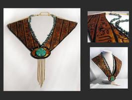 Egypt style leather necklace by julishland