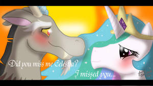 Celestia And Discord by SketchCoyote