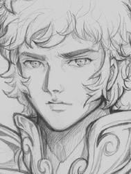 Aiolia Leo - Sketch by ShandyRp