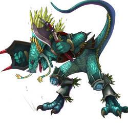 Lizardman PowerUp by ShandyRp