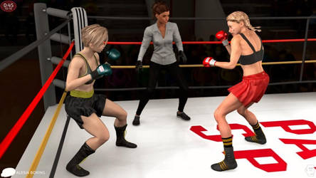 Pulling out: Alesia Schumann vs. Katia Nagel 130 by alesiaboxing