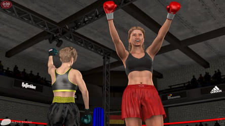 The distance! Alesia Schumann vs. Katia Nagel 133 by alesiaboxing