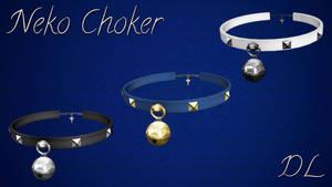 MMD Neko Choker DL by NiShiGara