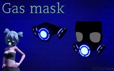 MMD Gas mask DL by NiShiGara