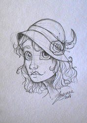 20's Portrait Sketch by MaxFeathers
