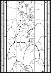 Panda Window - Lineart by MaxFeathers
