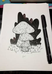 Inktober 2018 - Day 1 by MaxFeathers
