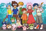 Digimon 13th Anniversary by tarahm