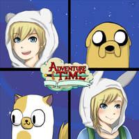 ArtTrade: Adventure Time by Piri-tan