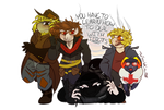 (Out Of Focus - Design) Idiots by TheScarletCrow