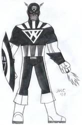 Black Lantern CAPTAIN AMERICA by batfan20