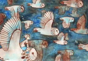 Owl ride by mirenne