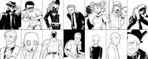 Batman - Noir style by Kibate