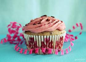 Choc Cookie Raspberry Cupcake by apparentlyjessy