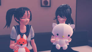 [MMD]Ayano Aishi and Hanako Yamada by Larisa753