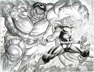 Hulk vs. Thor by FreddieEWilliamsii
