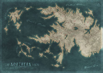 The Northern Lands Map by Kellerica