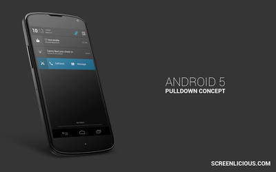Pulldown [Android 5 Concept] by xNiikk