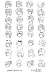 32 Anime and Manga Hair Styles by goosebump91