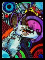 Psychedelic Dog by Arctosis