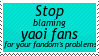 It's Not Our Fault Stamp by wallawallabingbong