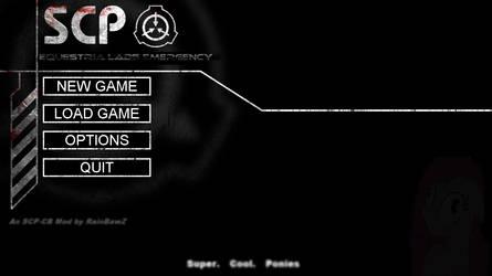 SCP - Containment Breach - MLP Mod (main menu) by R41NBAW5 on DeviantArt