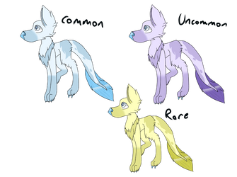 Eishund Color Variations by PantSongArt