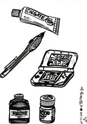 brush pen ordinary items by Scarabsi