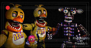 C4D|FNAF2|TMGPack|Who invited that guy? by YinyangGio1987