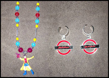 Custom Jubilee Necklace and Earrings/Earcuffs by UnicornPegasus