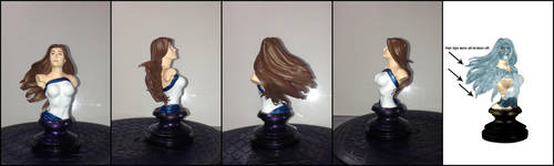 Custom Jessica Jones/Powerwoman Bust by UnicornPegasus