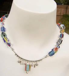 Modern Cane Glass Necklace by kjtgp1