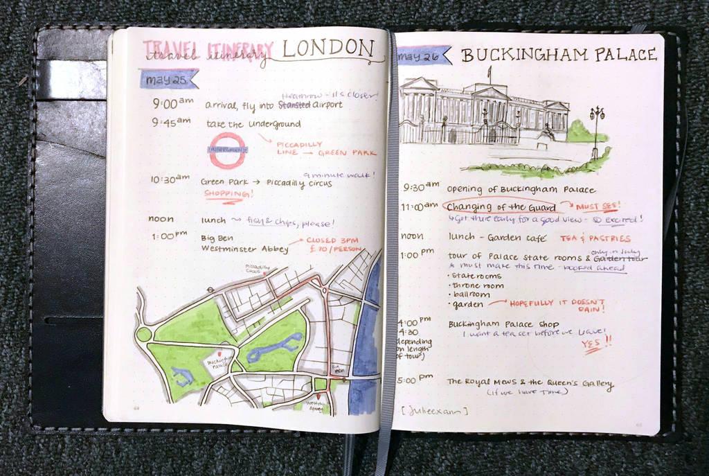Buckingham Palace - Travel Journal Spread by julieexann