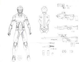 Titan combat armor (male) by danimedr