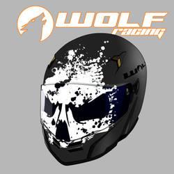 Helmet Brian's coustom ghost face by danimedr