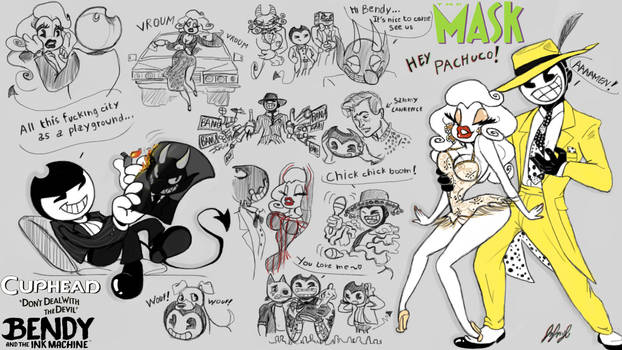 The Bendy Mask AU by fnafmangl