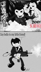 Gangsta Toons AU- Bendy Scarface by fnafmangl