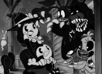 Batim and Fnaf in: Happy Nightmare Halloween by fnafmangl