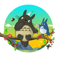 Totoro by MilloVerte