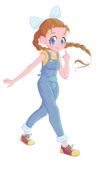 Harvest Moon - Ann by GlitchyReal