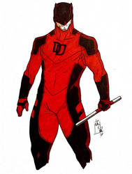 Daredevil Redesign  by NathanDiazArt