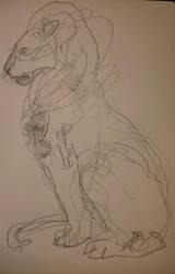 Lion crocquis by Waspdrake