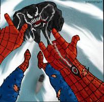 Spider-man VS Venom by BOSSTHITIWUT