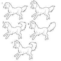free dog lineart by zcherozrodesidz