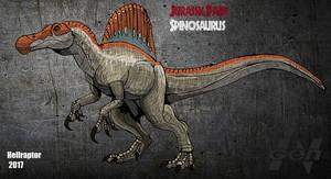Jurassic Park: Spinosaurus (new art +info) by HellraptorStudios