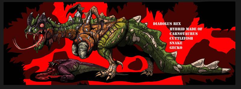 Jurassic Park:  Diabolus Rex concept (Updated ) by HellraptorStudios