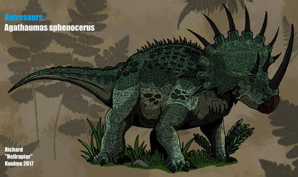 Retrosaurs: Agathaumas sphenocerus ( Updated ) by HellraptorStudios