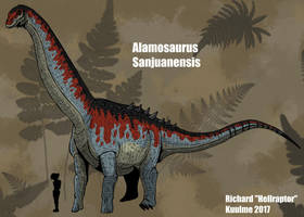 Alamosaurus sanjuanensis (updated !) by HellraptorStudios