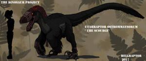 Utahraptor Ostrommaysorum-The Scourge by HellraptorStudios