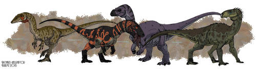 Triassic Avemetatarsalia by HellraptorStudios